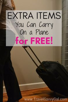 Travel Hack: Extra Items You Can Carry On a Plane for FREE It's actually the *official policy* of many airlines to let you carry on a plane all sorts of extra items that don't count toward your baggage limit. Source by carry on packing Carry On Packing, Packing List For Travel, Europe Travel Tips, Travel Guides, Travel Destinations, Travel Hacks, Traveling Tips, Air Travel Tips, Vacation Packing
