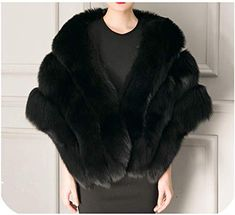 Shop a great selection of NEW Women Cape Coat Warm Faux Rabbit Fur Capes Elegant Ladies Faux Mink Fur Shawl Ponchos. Find new offer and Similar products for NEW Women Cape Coat Warm Faux Rabbit Fur Capes Elegant Ladies Faux Mink Fur Shawl Ponchos. Faux Fur Shrug, Faux Fur Wrap, Fur Cape, Cape Coat, Sleeveless Outfit, Fur Fashion, Female Fashion, Fashion Black, Fashion Clothes