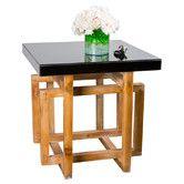 Tye Side Table in Black & Brown