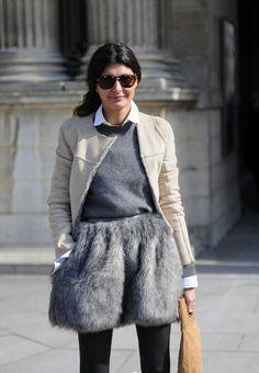 Giovanna Battaglia / Fur Skirt