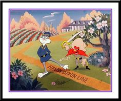 Mason Dixon line Yosemite Sam Disney Pictures, Funny Pictures, Mason Dixon Line, Yosemite Sam, Bugs Bunny, Comedy Central, The Good Old Days, Looney Tunes, Cartoon Drawings