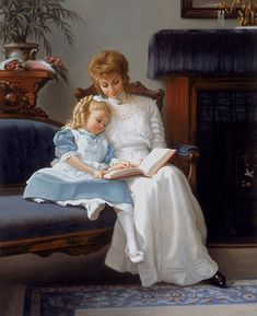 Impressioni Artistiche : ~ Mark Arian ~ Victorian Paintings, Victorian Art, Victorian Photos, Paintings I Love, Beautiful Paintings, Classic Paintings, Mothers Love, Happy Mothers, Carl Larsson