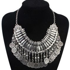 Vintage Punk Coin Pendants Necklace