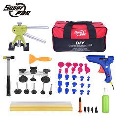 Super PDR Car Dent Repair Tools pulling bridge glue Puller glue gun dent tabs hand tool set 39pcs Dent removal tools kit #Affiliate
