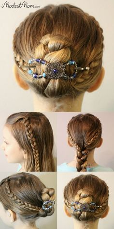 7585b2fe483e Triple Braid Hairstyle for girls and women! Use a Flexi Clip to keep the  braids