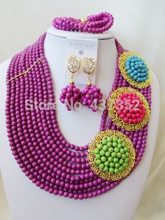 Find More Jewelry Sets Information about Amazing! PurpleTurquoise 3 Brooches Costume Necklaces Nigerian Wedding African Beads Jewelry Set TC117,High Quality Jewelry Sets from Alisa's Jewelry DIY Store on Aliexpress.com Diy Store, Costume Necklaces, African Beads, Turquoise Beads, Jewelry Sets, Crochet Necklace, Brooches, Jewels, Amazing