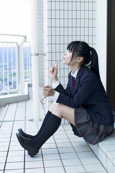 Cute school uniform look