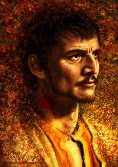"""""""I'm going to hear you confess before you die. You raped my sister, you murdered her, you killed her children. Say it now and we can make this quick."""" Adding a Red Viper portrait to my GoT series...."""