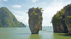 Showing item 3 of 5. Rock formation from the water of Krabi