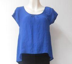 #Blusa #azul con detalle de #moños en la espalda, muy #coqueta y a la #moda