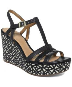 0648abef20 Artisan by Clarks Amelia Avery Platform Wedge Sandals Women's Shoes Leather Wedge  Sandals, Platform Wedge