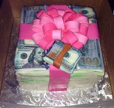 cake and money image 16 Birthday Cake, Birthday Goals, 19th Birthday, Sweet 16 Birthday, Birthday Bash, Girl Birthday, Hotel Birthday Parties, Husband Birthday, Money Cake