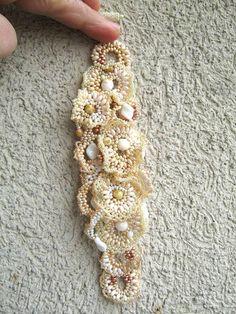 Beaded jewelry Seed bead bracelet Beaded cuff bracelet by ibics