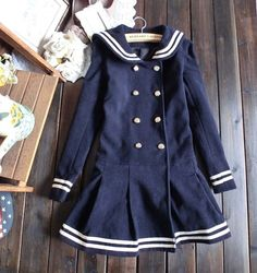 M And L     Navy sailor coat.    Please note this item may not always be available and if this is to happen while you have already purchased the item then i will refund you for the item.