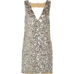 W118 by Walter Baker - Carley Sequined Gauze Mini Dress (€150) ❤ liked on Polyvore featuring dresses, silver, sequin dress, white cocktail dress, short sequin dress, twist dress and sequin cocktail dresses