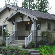 Craftsman Porch Details Bend Residence - craftsman - exterior - other metro - Paul Moon Design Craftsman Columns, Craftsman Bungalow Exterior, Craftsman Cottage, Bungalow Homes, Craftsman Style Homes, Craftsman Bungalows, Bungalow Porch, Cottage Exterior, Craftsman Porch