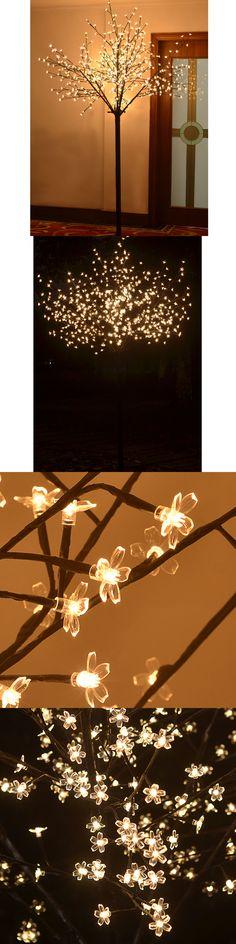 Artificial Christmas Trees 117414 8Ft Christmas Light Tree Cherry