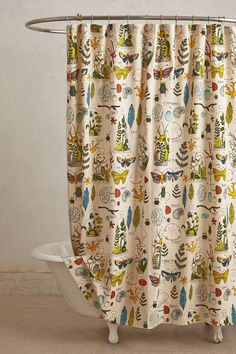 Entomology Shower Curtain - anthropologie.com If only I could justify spending $88 on a shower curtain...