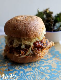 Instead of BBQ pulled pork sandwiches, try these BBQ Pulled Cauliflower Sandwiches.