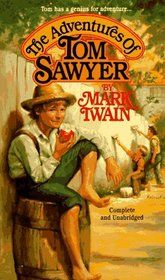 Tom Sawyer... I read this when I was 12, and it was really funny and interesting, but Huck Finn is definitely the better of the two for an older audience (: