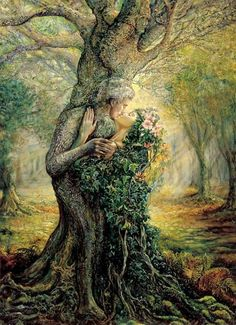 oracle tarot tree with entwined man and woman | 2014 Beltane ~ Beltaine ( 30 April ~ 1 Mei )