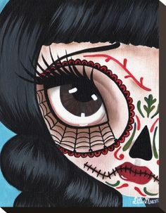 Day of the Dead No. 11 Stretched Canvas Print by Dottie Gleason at AllPosters.com