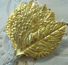 Vintage / Embossed Paper Foil Floral Rose by chocolateletters, $3.95