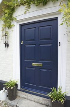 Oxford Blue Chadlington front door in Suffolk & Kingston timber front door with obscure glazing | Door ideas ... pezcame.com