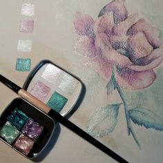 Hand Made Watercolour Paint by KJDesignByKaren Watercolor Pallet, Watercolor Kit, Watercolour Painting, Floral Watercolor, Art Studio Organization, Paint Set, Art Boards, Art Supplies, Art Inspo