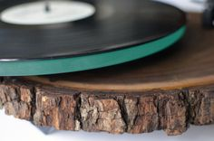 Beautiful Turntables Made from Black Walnut Trees