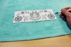 Free project instructions on how to embroider on terrycloth towels.