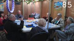 The Jewish Care Purple Thread has been enjoying fruit and biscuits in the succah.
