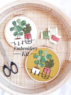 Contemporary Embroidery, Modern Embroidery, Embroidery Thread, Embroidery Patterns, Cactus Embroidery, Embroidery For Beginners, Embroidery Techniques, Craft Kits, Diy Kits