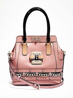Ellese Small Turn-Lock Satchel | GUESS.com