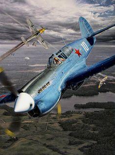 Curtiss P-40E дважды Героя Советского Союза Сафонова Бориса Феоктистовича