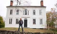 Daryl in front of the Connecticut home he is restoring on the DIY Network TV Show 'Daryl's Restoration Over-Hall.'