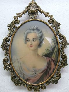 Vintage Italian Romantic Brass Miniature Portrait Picture Frame Gorgeous Shabby   eBay