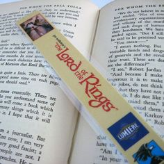 Tolien's Lord of the Rings Bookmark  Recycled VHS by StalkingMarla