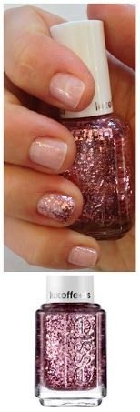 Top your favorite essie color with a coat of jewels and create a lavish nail look with this cutting edge, shattered pink diamond glitz lacquer. #Nails #Beauty #Gifts #Holidays #Nails Visit Beauty.com for more.