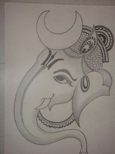 Explore collection of Easy Ganesh Drawing Ganesha Drawing, Ganesha Painting, Lord Shiva Painting, Ganesha Art, Ganpati Drawing, Lord Ganesha, Ganesha Sketch, Pencil Drawing Pictures, Pencil Art Drawings