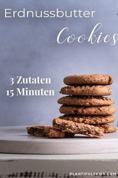 Fast Healthy Peanut Butter Date Biscuits- Schnelle gesunde Erdnussbutter-Dattel Kekse Vegan, gluten-free without added sugar. Peanut Butter Biscuits, Soft Peanut Butter Cookies, Healthy Peanut Butter, Peanut Butter Recipes, Buttermilk Biscuits, Easy Cookie Recipes, Healthy Dessert Recipes, Smoothie Recipes, Protein Smoothies