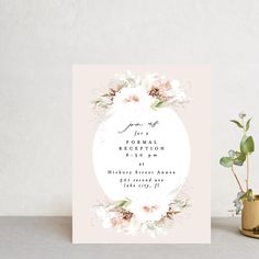 """Beautiful Spring"" - Reception Cards in Spring by Phrosne Ras. Pastel Wedding Invitations, Personalised Wedding Invitations, Personalized Wedding, Reception Card, Blush Color, Place Card Holders, Romantic, Spring, Cards"