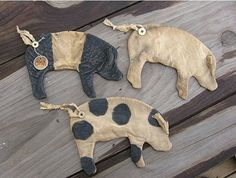 Primitive Pig Flat by Rabbithollowprims on Etsy, $7.00