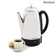 West Bend Classic Stainless Steel 12-Cup Percolator Coffee Maker