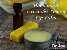 Homemade Lavender Lemon Lip Balm
