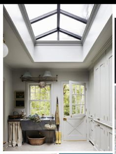 Mud room with Awesome skylight!