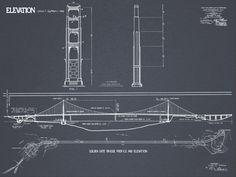 Brooklyn bridge blueprints print vintage by firstclassdesignco golden gate bridge blueprint vintage san by firstclassdesignco malvernweather Gallery