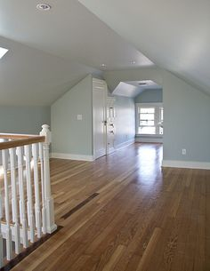A light and bright attic space