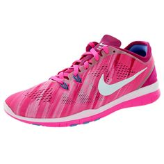 cheap for discount f9509 b409e Nike Women s Free 5.0 Tr Fit 5 Prt Pow White Fireberry Polar Training