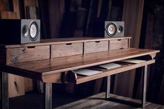 Reclaimed Composer / Studio Desk for Audio / Video / by Monkwood